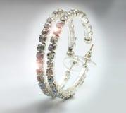 Boucles d'oreille de diamants Photo libre de droits