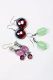 Boucles d'oreille de Glassbead photos stock