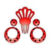 Boucles d'oreille de l'Andalousie Image libre de droits