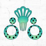 Boucles d'oreille de l'Andalousie illustration de vecteur