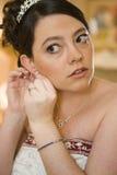 Boucles d'oreille de mariée Images stock