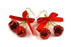 Boucles d'oreille de Noël Photos stock