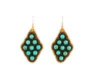 Boucles d'oreille des perles Images stock
