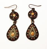 Boucles d'oreille multicolores Photos stock
