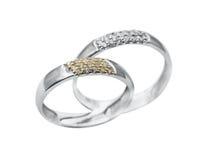 Boucles de bijou de mariage Image libre de droits