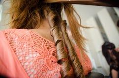Boucles de cheveux Photographie stock libre de droits