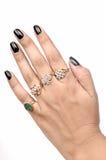 Boucles de diamant disponibles Images libres de droits