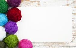 Boucles de laine de couleur Photos libres de droits