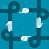 Boucles de mains et doigts de pointage - bureaucratie Image libre de droits