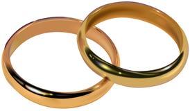 Boucles de mariage 01 Photo stock