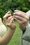 Boucles de mariage Photographie stock libre de droits