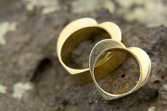 Boucles de mariage 2 images libres de droits