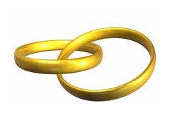 Boucles de mariage Photo libre de droits