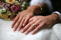Boucles de mariage Photos libres de droits
