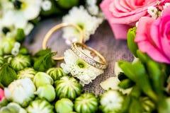 Boucles de mariage Photo stock