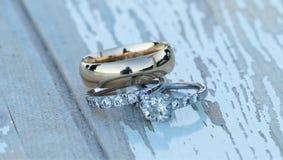 Boucles de mariage Image libre de droits