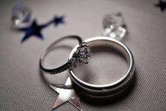 Boucles de mariage Images libres de droits