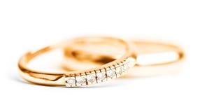 Boucles de mariage d'or Lizenzfreies Stockbild