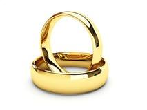 Boucles de mariage d'or Photographie stock