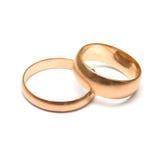Boucles de mariage de paires Images stock