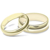 Boucles de mariages Photographie stock