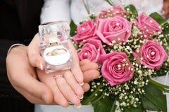 Boucles de mariages Images stock