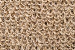 Boucles de tissu rugueux de lin Photographie stock libre de droits