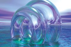 boucles en verre de flottement Photo stock