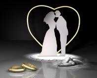 Boucles et mariage de dragée Photographie stock libre de droits