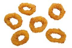 Boucles frites de Calamari Image libre de droits