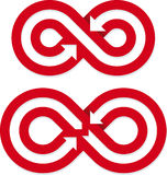 Boucles infinies Image stock