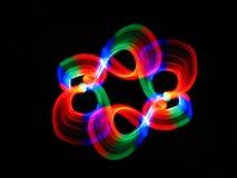 Boucles multicolores de lumière Images libres de droits