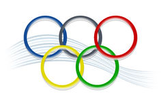 Boucles olympiques Images stock