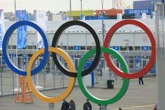 Boucles olympiques Images libres de droits