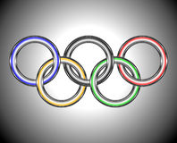 Boucles olympiques Image stock