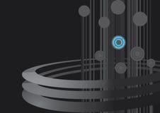 Boucles techniques foncées de conception Photographie stock libre de droits