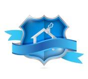 Bouclier à la maison de la protection. concept de sécurité Images stock
