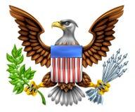 Bouclier américain Eagle Design Photographie stock