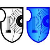 Bouclier, arc et arrows-2 Image stock