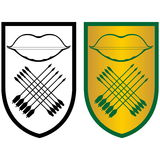 Bouclier, arc et arrows-3 Images stock