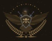 Bouclier d'Eagle avec les épées et la guirlande de laurier illustration stock