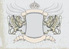 Bouclier d'héraldique de griffon Images libres de droits