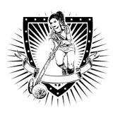 Bouclier d'hockey de champ Photo libre de droits