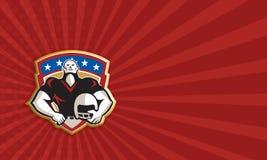 Bouclier de casque de linebacker d'attirail de football américain illustration libre de droits