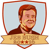 Bouclier de Jeb Bush President 2016 Image stock