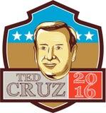Bouclier de républicain de Ted Cruz President 2016 Photo libre de droits