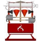 Bouclier de sapeur-pompier Image libre de droits