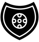 bouclier du football, vecteur d'insigne du football qui peut être facilement modifié ou édité illustration de vecteur