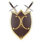 Bouclier et épées Photographie stock libre de droits