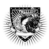 Bouclier fâché de berger allemand Image libre de droits